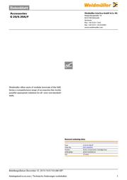 Weidmueller Micro fuse 25 mm x 50 mm 6.3 A Weidmüller 0431400000 Content 10 pc(s) 0431400000 Data Sheet
