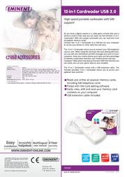 Eminent 12-in-1 Cardreader USB 2.0 EM1060 Leaflet