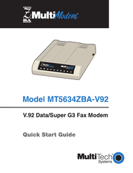 Multitech MT5634ZBA-V92 User Manual