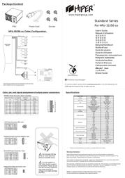 Hiper Single Fan 18dB PFC 350W PS3S350 Leaflet