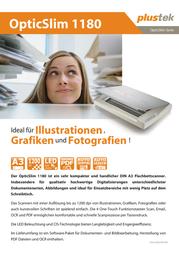 Plustek OpticFilm 7200iSE Filmscanner 120 Data Sheet