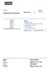 Stoves 1100PRO 444445449 Leaflet