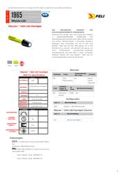 Peli PEL1965Z0 Neon yellow PEL1965Z0 Data Sheet