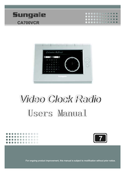 Sungale CA700VCR User Manual