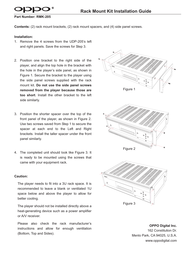 Oppo RMK-UDP205 Owner's Manual