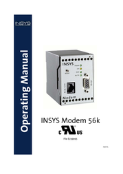 Insys Modem 56k 4.1 m/UL 11-02-01-01-40.022 User Manual