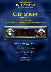 Dayton CD 2104 CD Player / RDS Tuner CD2104 Leaflet