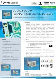 Brainboxes Universal 1-Port Velocity RS422/485 UC-320 User Manual