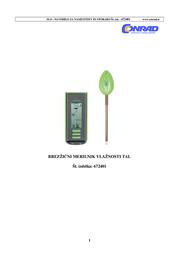 Thomar W137-P Wireless Soil Moisture Meter W137-P Data Sheet