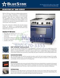 BlueStar RNB366BV2 Specification Sheet