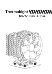 Thermalright HR-02 Macho Rev.A 100700717 User Manual