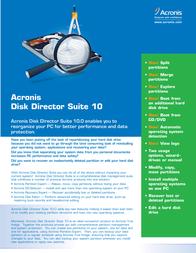 Avanquest Acronis Disk Director Suite 10 DDULB2ENS Leaflet