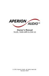 Aperion Audio SW8-APR User Manual