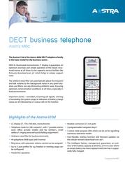 DeTeWe Aastra 610d 68851 Leaflet