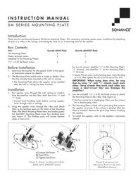 Sonance Mounting Plates SM-Series Leaflet