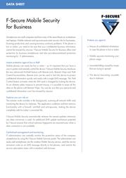 F-SECURE Mobile Anti-Virus for Businesses, 10-24 users FMAVBF1NVBCIN Leaflet