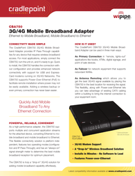 Cradlepoint CBA750 Specification Guide