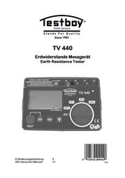 Testboy TV 440N EARTHING RESIS. METER Testboy TV 440N User Manual