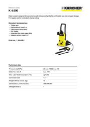 Kärcher K 4.600 1.180-600.0 User Manual