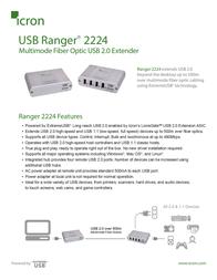 Icron USB Ranger 2224 00-00261 Leaflet