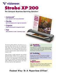 Visioneer Strobe XP 200 90-7037-200 Leaflet