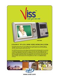 Svat Video Door Phone Intercom System Night Vision Camera VISS7500 Leaflet