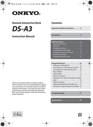 ONKYO DS-A3 User Manual