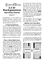Excalibur 377 User Manual