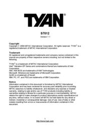 MiTAC TYAN S7012 User Manual