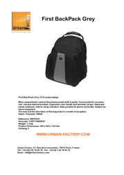 Urban Factory First Backpack Grey/Black NBP02UF Leaflet