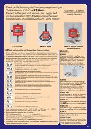 Greisinger EASYLOG 40IMP/T Temperature Data Logger 603413 Data Sheet