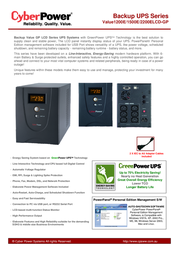 CyberPower Value 1200E VALUE 1200E Leaflet