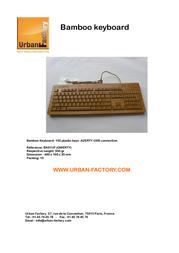 Urban Factory Bamboo Keyboard KBB31UF Leaflet