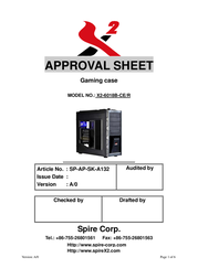 X2 6018 X2-6018B-CE/R User Manual