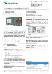 Wachendorff VZ484801 Data Sheet
