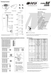 Hiper ATX v2.2 Active PFC Sli Ready 580W PS4M580 Leaflet