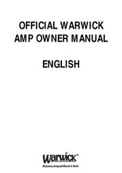 Warwick ProTube IV User Manual