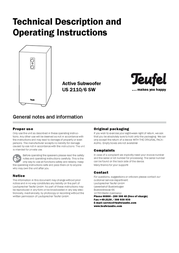 Teufel Concept E 350 102914001 User Manual