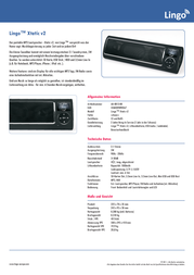 Lingo Xtatic v2, black MP3 Player Speaker, Black AU-0013-BK Data Sheet