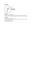 Fossil am4089 Supplementary Manual