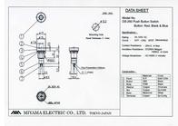 Miyama Pushbutton 125 Vac 3 A 1 x Off/(On) DS-260, BLACK momentary 1 pc(s) DS-260, BK Data Sheet