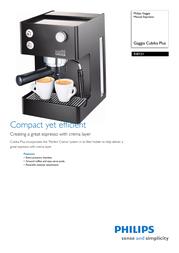 Gaggia Manual Espresso RI8151/60 RI8151/60 Leaflet