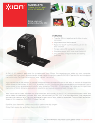 ION Audio SLIDES 2 PC MK2 SLIDES2PCMK2 Leaflet