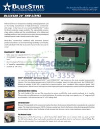 BlueStar RNB304BV2 Specification Sheet