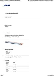 Leoni 349504 Twin Speaker Cable, 2 x 4 mm², Transparent, Red Sheath 349504 Data Sheet