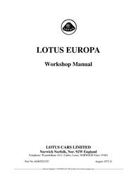 Lotus Europa A046T0327Z User Manual