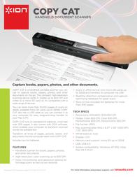 ION Audio Copy Cat 0812715011451 Leaflet