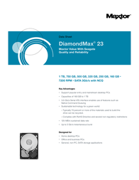 Maxtor DiamondMax 23 500GB STM3500418AS Data Sheet