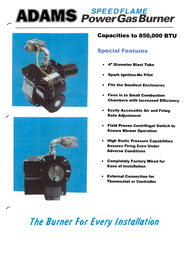 Adams Speedflame Power Gas Burner Leaflet