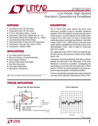 Linear Technology LT1007CN8#PBF Linear IC DIP8 Low Noise Prec Op Amp LT1007CN8#PBF Data Sheet